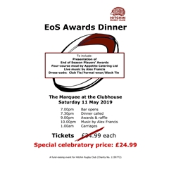 Hitchin Rugby Club - EoS Awards dinner 2018