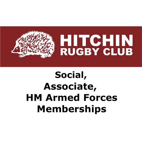 Hitchin Rugby Club - Associate / Social / HM Forces / Touch Rugby subscription 2019-20