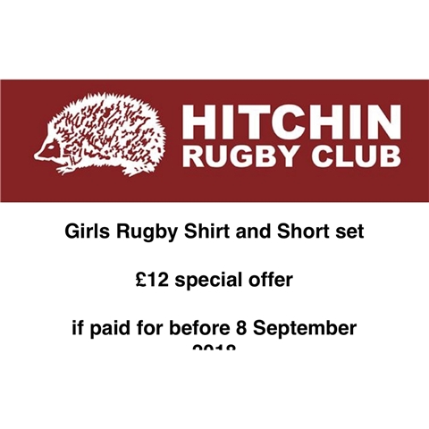 Hitchin Rugby Club - Girls Rugby Shirt and Short set