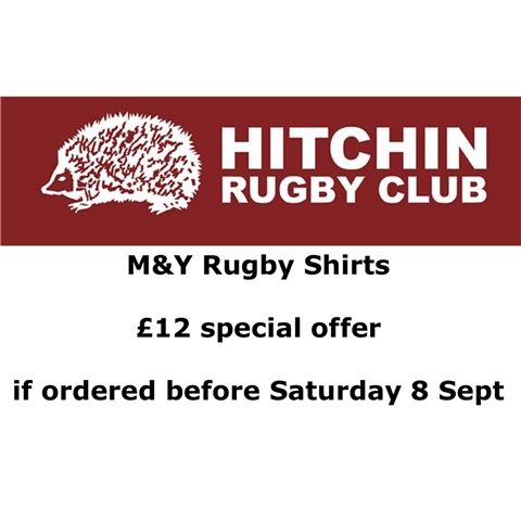 Hitchin Rugby Club - M+Y special offer on 2018-19 Shirts